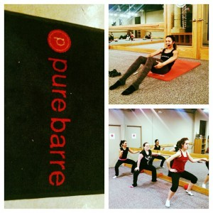 Top Right: Co-owner Jessica Alier leading the class! Bottom Right: Levo Ladies rockin' it at Pure Barre Miami!